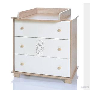 Baby Wickelkommode Bär mit Wickelaufsatz